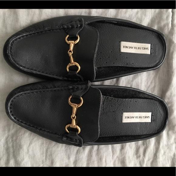 6a9733808 Saks Fifth Avenue Shoes   Gucci Style Slide Horsebit Loafers   Poshmark